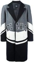 Kokon To Zai colour block midi coat - men - Polyester/Viscose/Wool - S