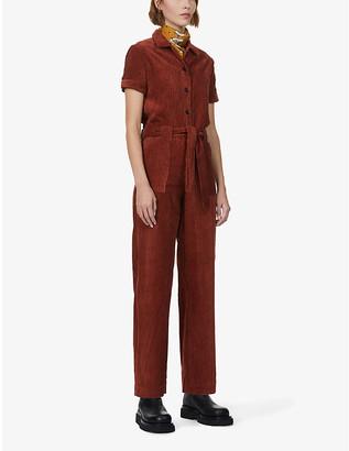 Sessun Brooke short-sleeve corduroy jumpsuit