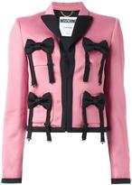 Moschino bow tie embellished jacket
