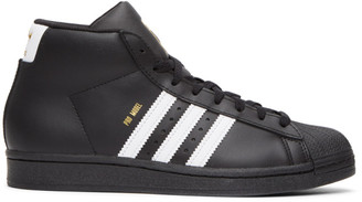adidas Black Pro Model High-Top Sneakers