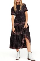 Free People Rare Feeling Pleated Maxi Dress