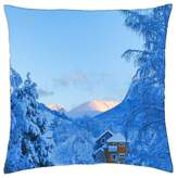 "iRocket - Winter day - Throw Pillow Cover (24"" x 24"", 60cm x 60cm)"