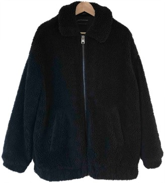 Urban Outfitters Black Faux fur Coat for Women