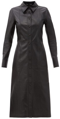 Proenza Schouler Leather Midi Shirt Dress - Black