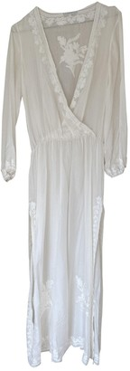 MARIE FRANCE VAN DAMME White Silk Dress for Women