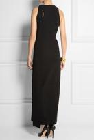 Calvin Klein Collection Wrap-around stretch-crepe maxi dress