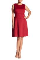 London Times Ponte Flare Dress (Plus Size)