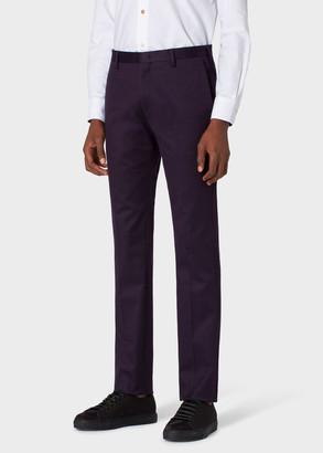 Paul Smith Men's Slim-Fit Dark Aubergine Stretch-Cotton Chinos