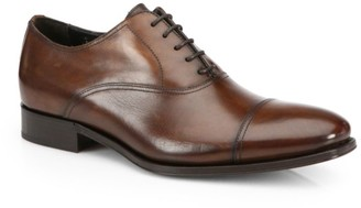 To Boot Aidan Leather Cap Toe Oxfords