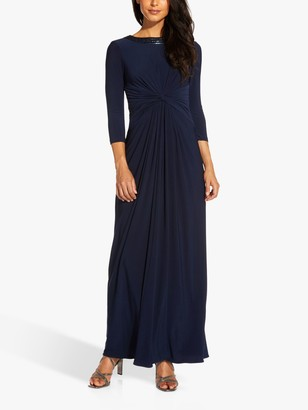 Adrianna Papell Jersey Maxi Gown, Midnight