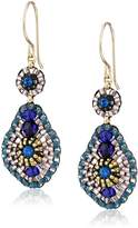 Miguel Ases Quartz and Swarovski Small Tear Drop Earrings