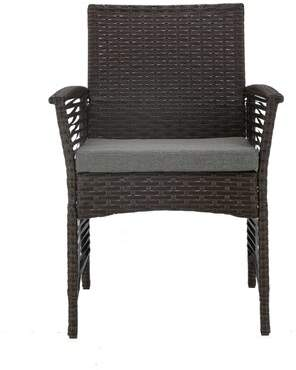 Charlton Home Harrelson Backyard 5 Piece Dining Set with Cushions Charlton Home Color: Chocolate