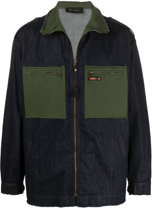 Mr & Mrs Italy Contrast Panel Logo Patch Jacket