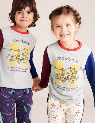 Marks and Spencer Roald Dahl & NHM Monkey Top (2-7 Yrs)