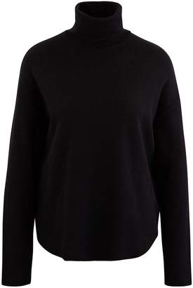Majestic Filatures Top with a roll neck, made of cotton and cashmere