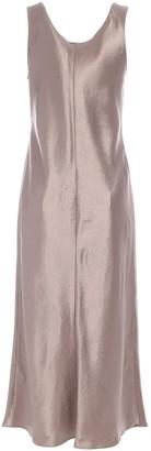 Max Mara Sleeveless A-Line Satin Dress