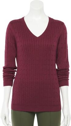 Croft & Barrow Women's The Classic V-Neck Sweater