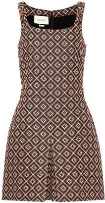 Gucci Printed cotton-blend playsuit