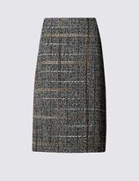 Marks and Spencer Wool Blend Tweed A-Line Skirt