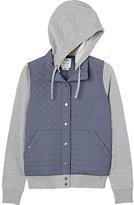 RVCA Juniors Unlabel Fleece Hooded Quilted Jacket