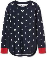 Gap GapKids | Disney Mickey Mouse and dots hi-lo sweater