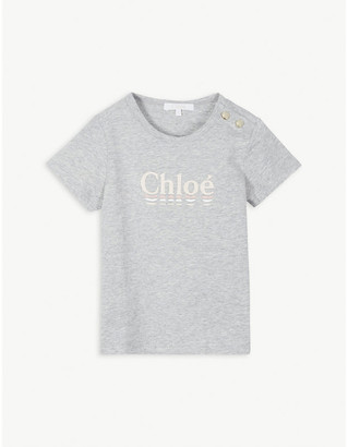 Chloé Logo cotton T-shirt 4-14 years