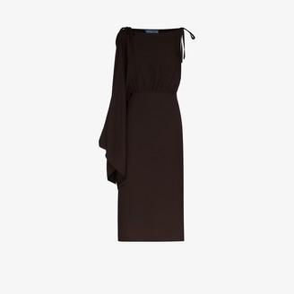 Prada Asymmetric Midi Dress