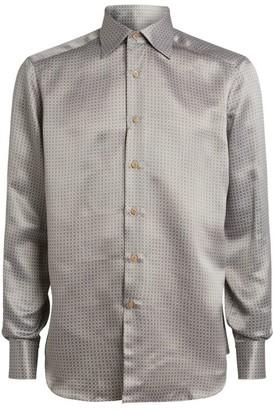 Stefano Ricci Silk Geometric Shirt