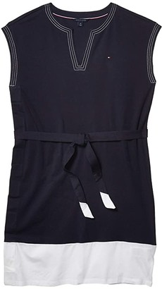 Tommy Hilfiger Adaptive Color-Block Sleeveless Dress (Masters Navy/Bright White) Women's Dress