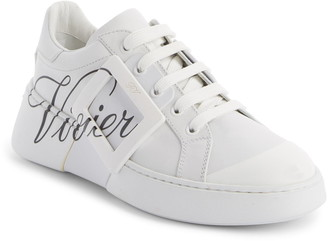 Roger Vivier Logo Lace-Up Skate Sneaker