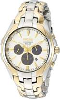 Seiko Men's Solar Chronograph Japanese-Quartz Watch with Two-Tone-Stainless-Steel Strap 20 (Model: SSC634)