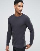 Sisley Sweater In Waffle Texture