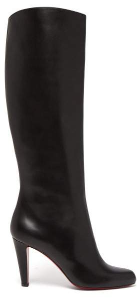 a1e191112ce Marmara 85 Leather Knee High Boots - Womens - Black