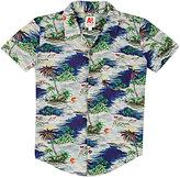 AO Hawaiian-Print Button-Front Shirt