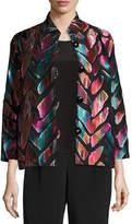 Caroline Rose Vivid Dreams Jacquard Bracelet-Sleeve Jacket, Petite