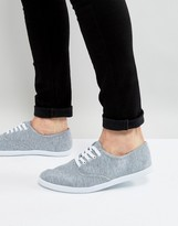 Asos Oxford Plimsolls In Grey Marl