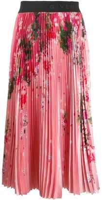 Givenchy Pink Floral Midi Skirt