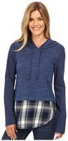 Mod-o-doc Heavenly Jersey Pullover Hoodie w/ Contrast Flannel Hem