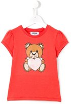 Moschino Kids - teddy bear logo print T-shirt - kids - Cotton/Spandex/Elastane - 6 yrs