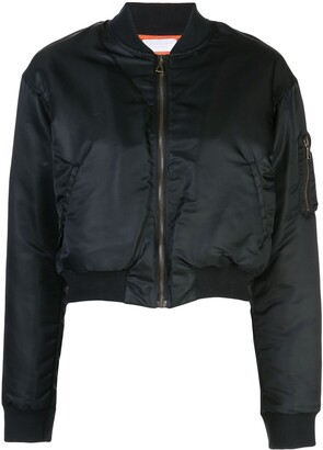 John Elliott Hunter Cropped Bomber Jacket