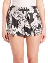 KENDALL + KYLIE St. Tropez Printed Silk Shorts