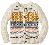Girls Cable Cozy Fair Isle Cardigan