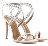 Aquazzura Sweet Lover embellished suede sandals