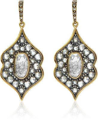 Moritz Glik 18K Gold, Blackened Silver And Diamond Earrings