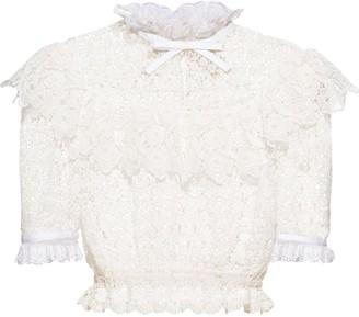 Miu Miu Cropped Lace Top