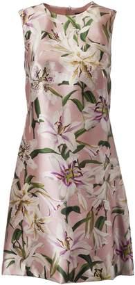Dolce & Gabbana Flower Print Sleeveless Dress