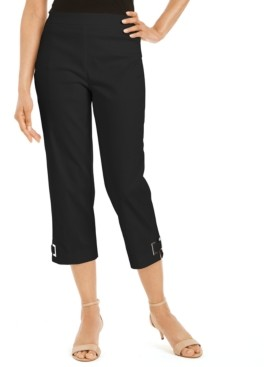 JM Collection Grommet-Trimmed Capri Pants, Created for Macy's