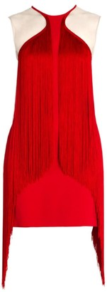 Stella McCartney Fringe Trim Mini Dress