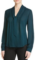 Paige Lupita Silk Tie Neck Blouse - 100% Exclusive