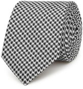 Reiss Leroy Silk Houndstooth Tie